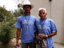 Moya village leaders Reynario & Luciano wearing the 2007 Mission shirts