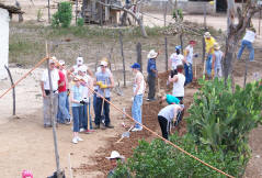2007 Mission Team at work in Moya